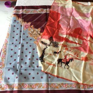 Bundle of two designer scarfs